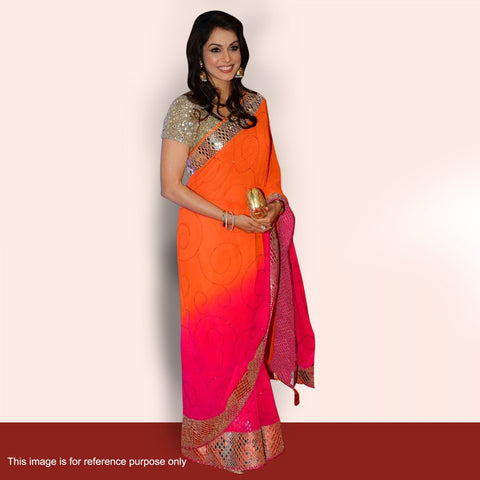bollywood-sarees-online-shaded-orange-and-pink-multi-sequins-and-border-work-bollywood-sarees