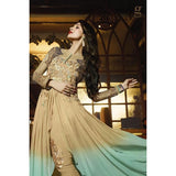 Malaika Arora Khan Suits Embroidered Work Designer Georgette Suit Front Open Anarkali Suit
