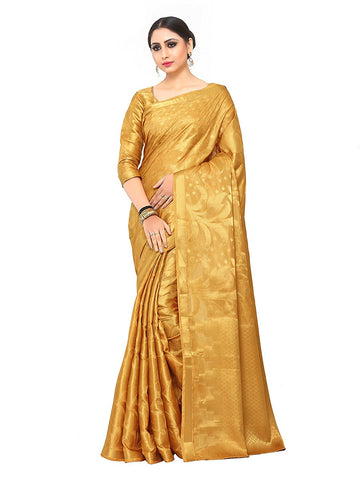 Gold Colour Silk Saree