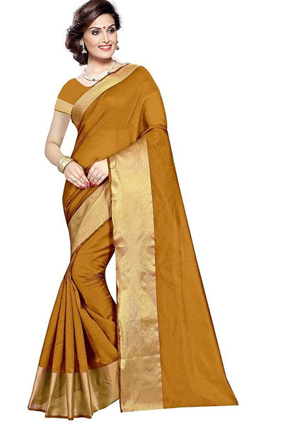 Golden Color Silk Saree