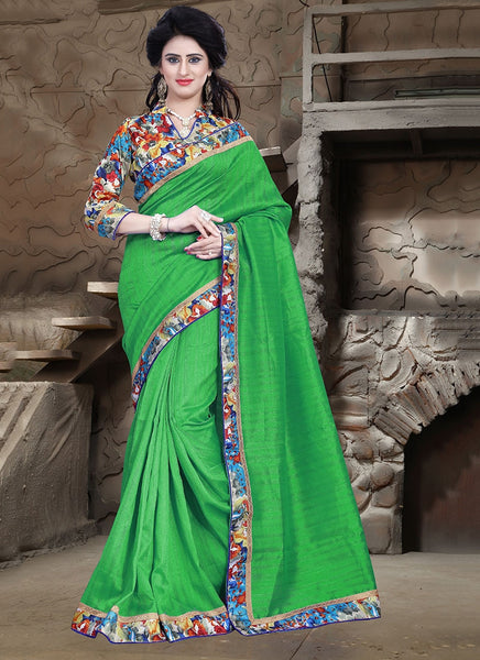 Urban-Naari-21716-Green-Bhagalpuri-Silk-Printed-Saree