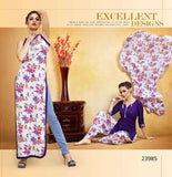 Holi Offer Purple Lawn Printed Punjabi Patiyala Dress With Lace Border Un-Stitched Dress Material For Women