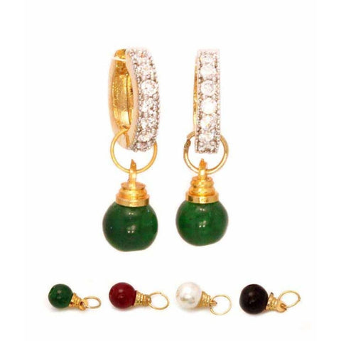 Designer Jewellery Multi Color Interchangeable Fancy Party Wear Earrings For Girls And Women