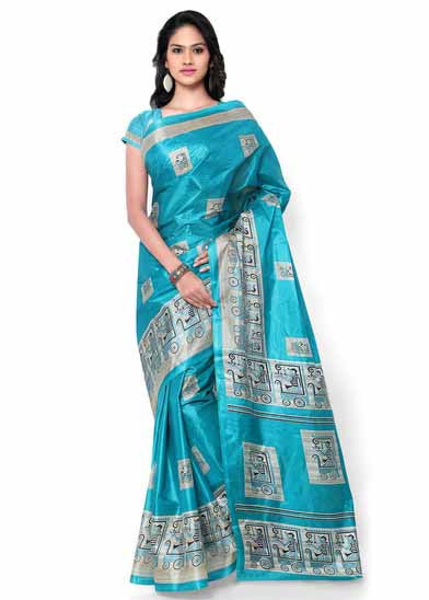 Latest Self Printed Silk Saree For Women