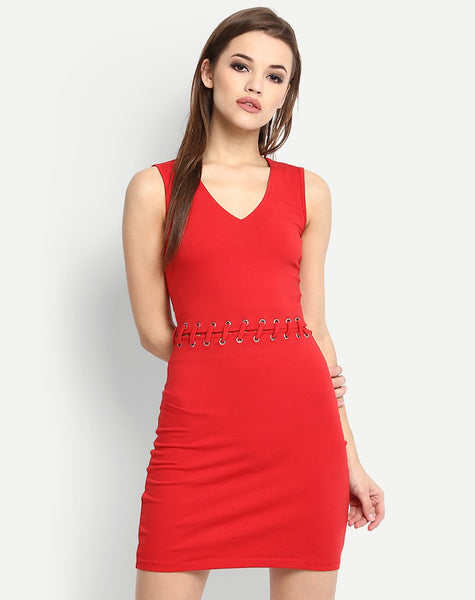 online-designer-red-colored-sleeveless-bodycon-dress-v-neck-style-bodycon-midi-dress-