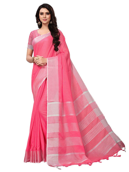 Light Pink Silk Saree