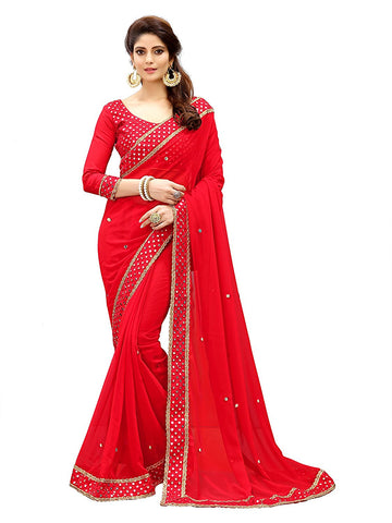 Designer Mirror Work Saree Border - Mirror Work Saree