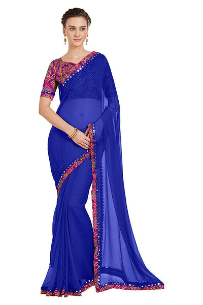 Mirror Work Saree Online Shopping