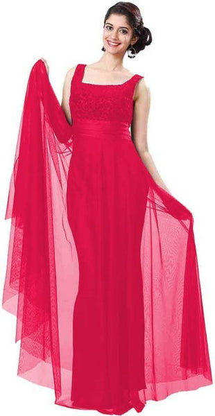 Pink Color New Gown Dress Sleeveless Gown For Girl