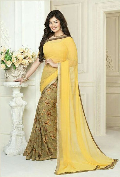 Shop Online Ideal Yellow Party Wear Saree For Women