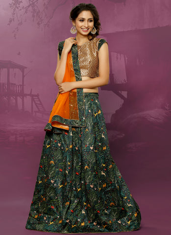 Navratri Sale: Latest Designer Lehenga Choli Animal Print Festive Wear Ghagra Choli
