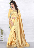 Urban-Naari-21773-Dark-Yellow-Designer-Art-Silk-Embroidered-Lace-Border-Saree