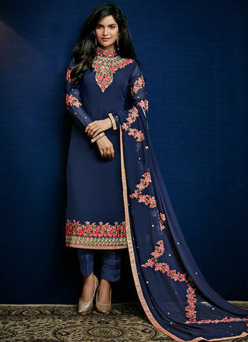 Urban-Naari-21373-Pakistani-Suits-Navy-Blue-Designer-Georgette-Embroidered-Semi-Stitched-Salwar-Suit