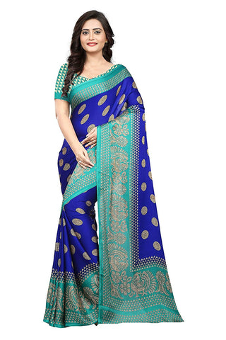 Peacock Blue Silk Saree