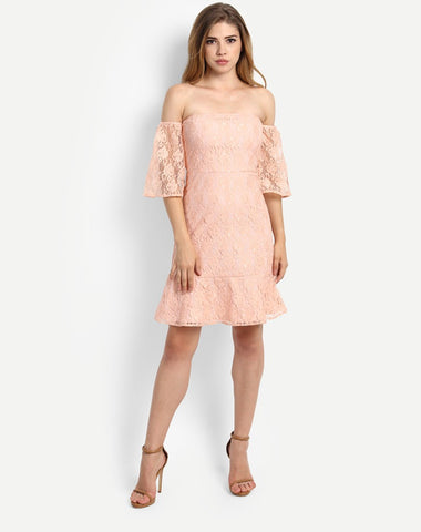 rose-off-shoulder-dress-net-designer-skater-dresses-online