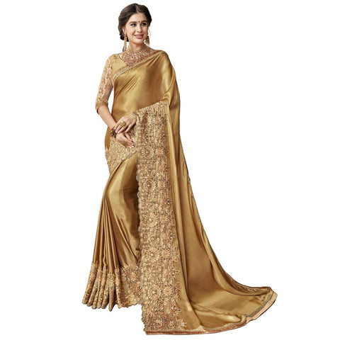Gold Color Saree Online