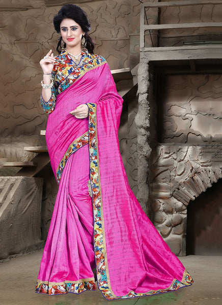 Urban-Naari-21714-Pink-Colored-Bhagalpuri-Silk-Printed-Saree