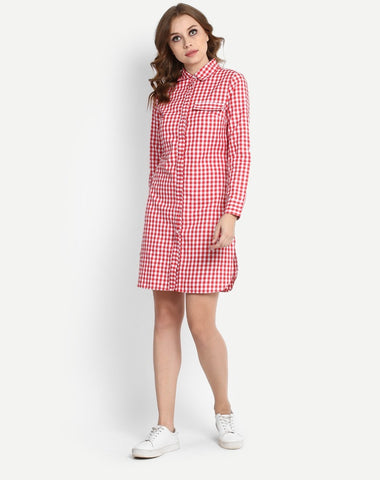 red-&-white-block-printed-full-sleeves-shirt-dress-designer-midi-dresses-online