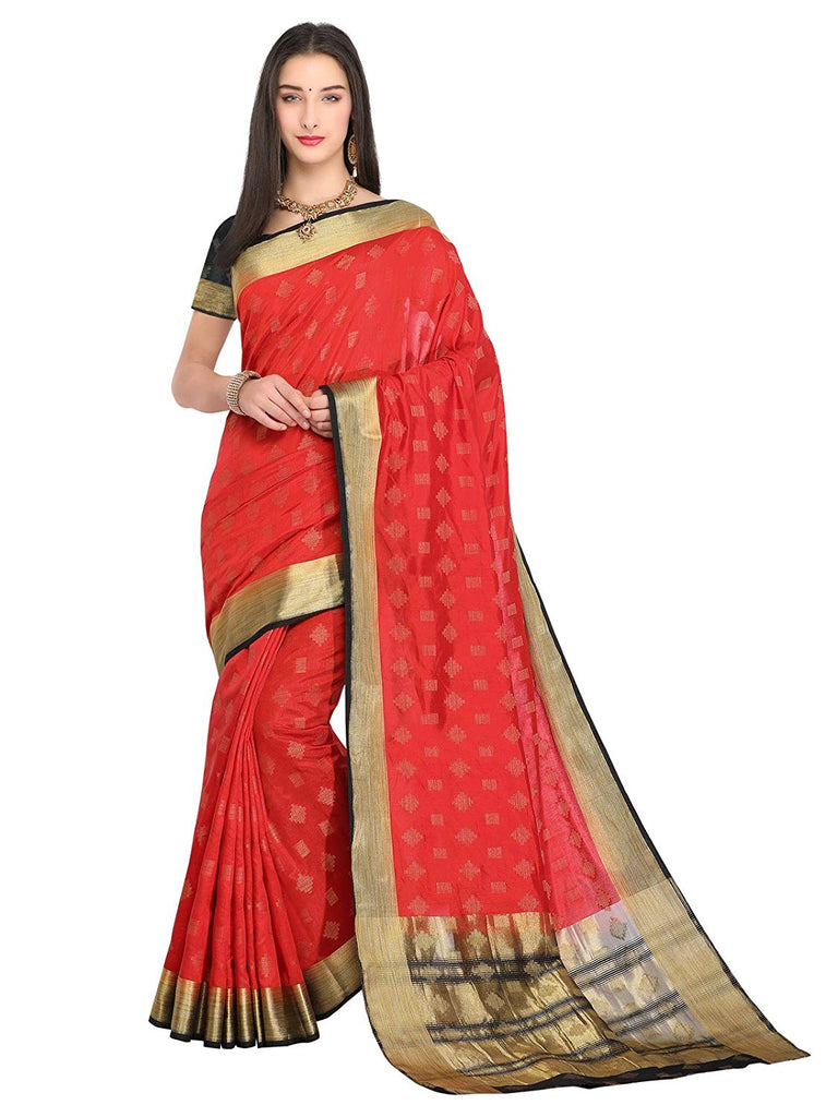 40259f57a6b Red Saree With Black Blouse