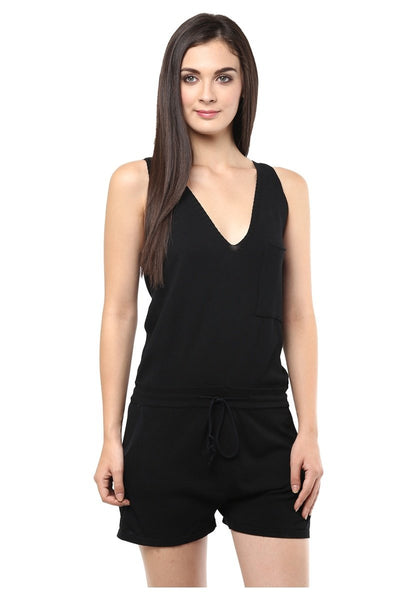 Stylish Rompers Black Romper For Women