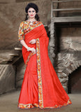 Urban-Naari-21707-Dark-Orange-Colored-Bhagalpuri-Silk-Printed-Saree