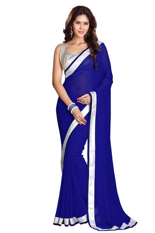 Royal Blue Saree Blouse