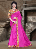 Urban-Naari-21709-Pink-Colored-Bhagalpuri-Silk-Printed-Saree
