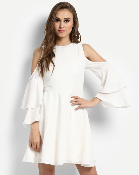 buy-online-dresses-white-cold-shoulder-skater-dress