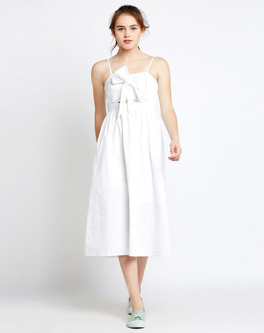 white-knotted-cut-out-midi-dress-white-skater-dress-for-women