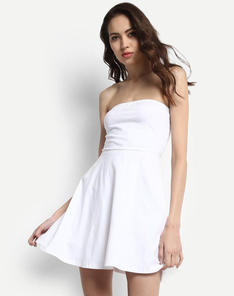 b0f8f22bc5ff9 Shop Online White Color Off Shoulder Dress Mini Dresses Western Wear For  Women at best Prices – Lady India