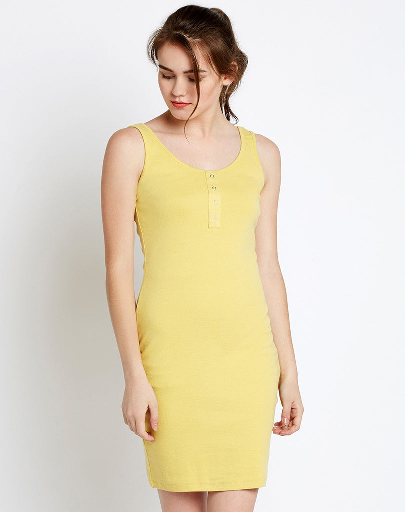 437fa3a37667 Get Online Dresses Yellow Bodycon Dress Sleeveless Designer Dresses at  Lowest Prices in India – Lady India