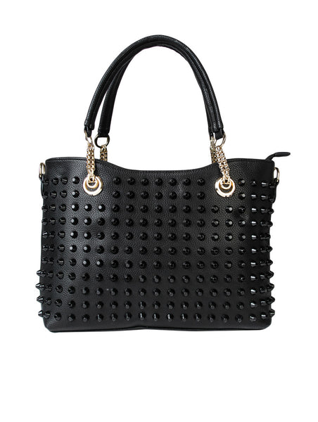 black-leatherette-handbag-for-women-online-designer-women-purse