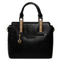 Black Leatherette Handbag Designer Handbag For Women