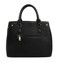 Black Leatherette Handbag For Women Online Designer Women Handbags