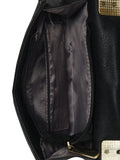 Black Leatherette Sling Bag For Women