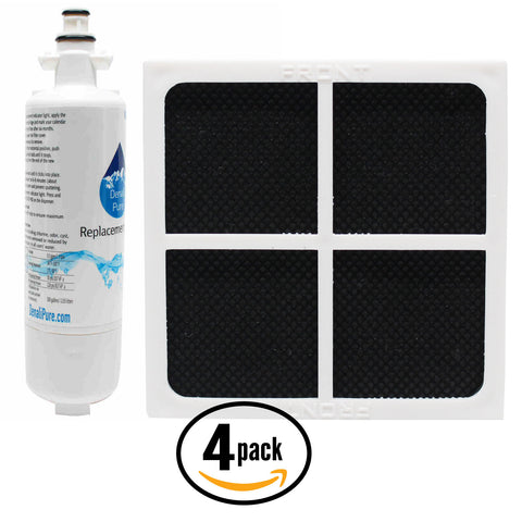 4-Pack LG LT120F Air Filter & LT700P Water Filter