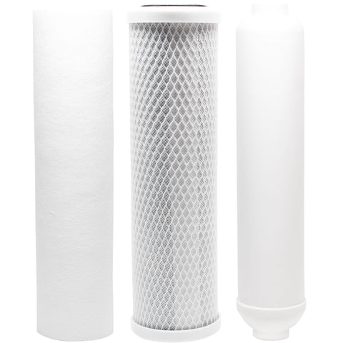 Reverse Osmosis Water Filter Kit - Includes Carbon Block Filter, PP Sediment Filter & Inline Filter Cartridge
