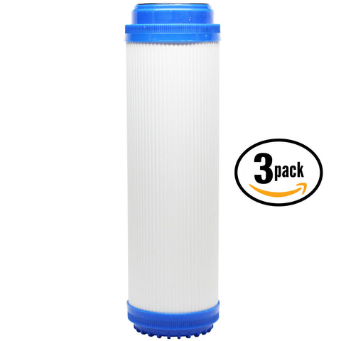 "3-Pack 10"" Universal Granular Activated Carbon Water Filter"