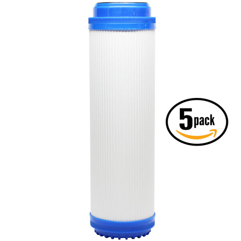 "5-Pack 10"" Universal Granular Activated Carbon Water Filter"