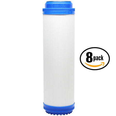"8-Pack 10"" Universal Granular Activated Carbon Water Filter"