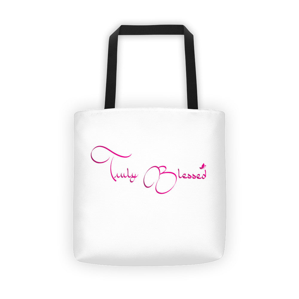 Truly Blessed Tote bag - Our Anointed Tees.