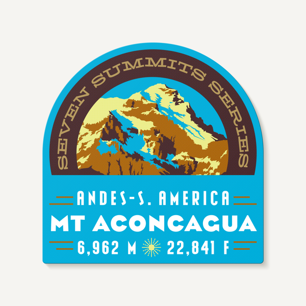 Mt Aconcagua Seven Summits Andes South America Decal Sticker