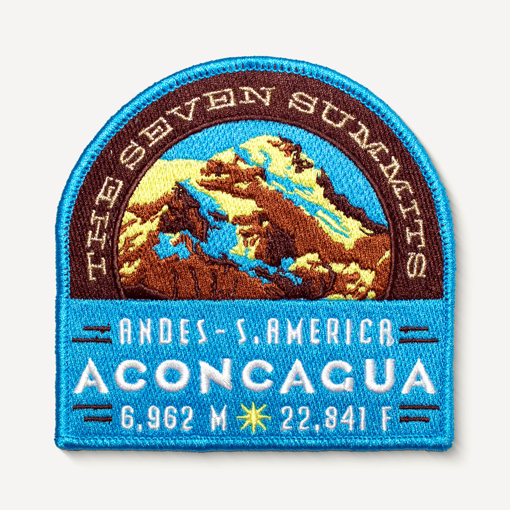 Aconcagua Seven Summits Patch Andes Argentina South America