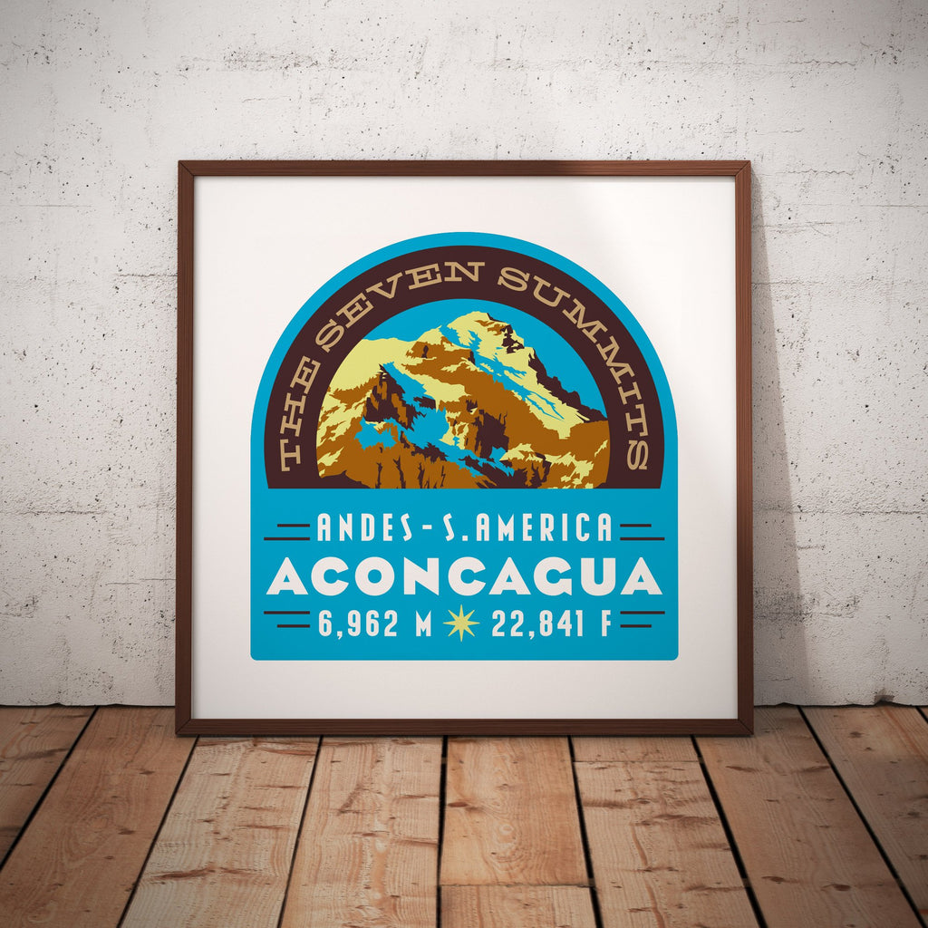 Aconcagua Seven Summits Argentina Andes South America Giclee Art Print