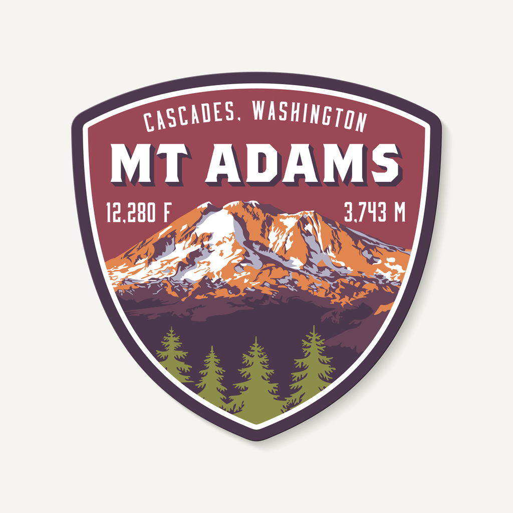Mt. Adams Cascades Washington Decal Sticker