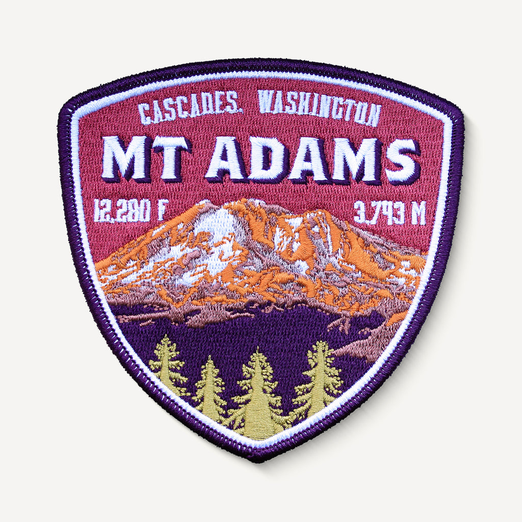 Mount Adams Embroidered Mountain Travel Iron-on Patch Cascades Washington