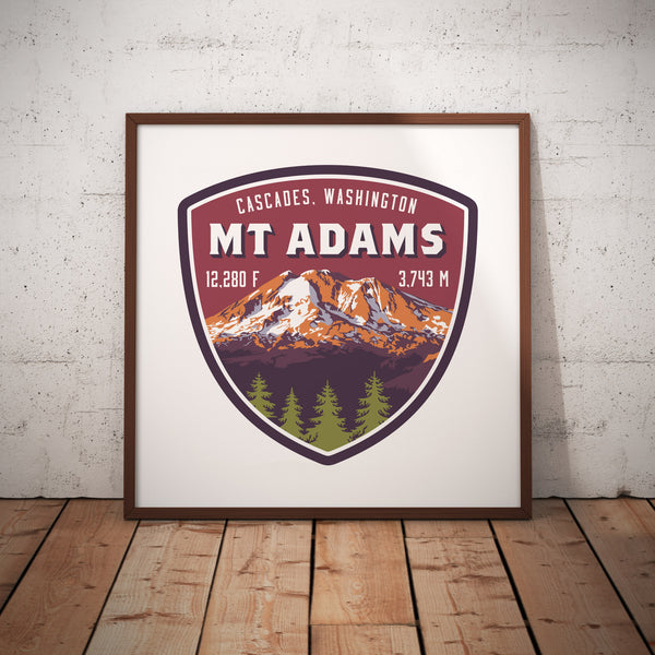 Mount Adams Cascades Washington Giclee Art Print