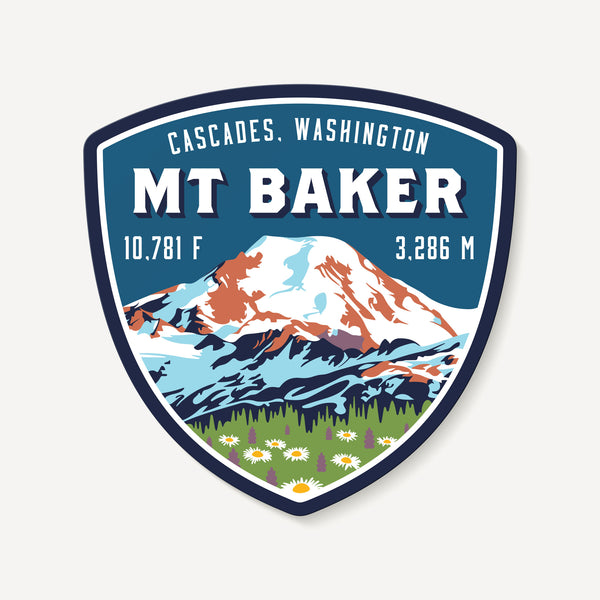 Mount Baker Cascades Washington Mountain Travel Decal Sticker