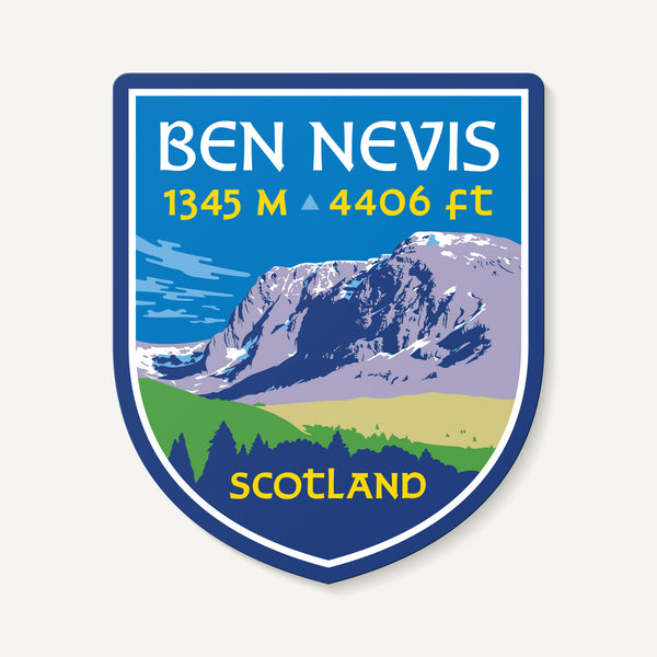 Ben Nevis Scotland UK Mountain Travel Decal Sticker