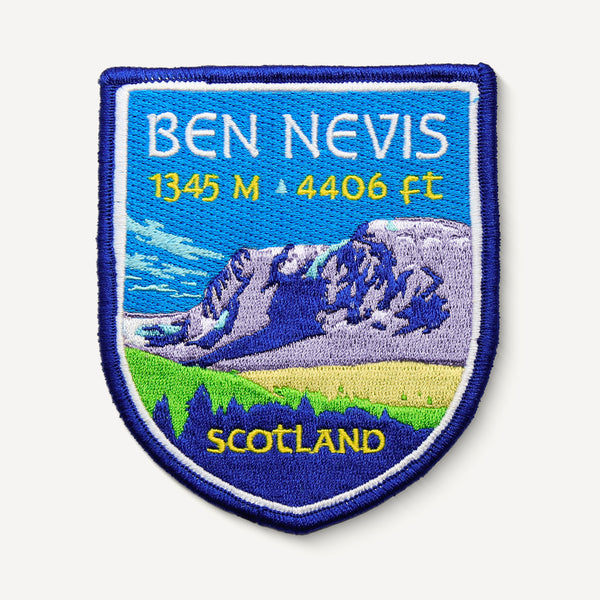 Ben Nevis Scotland UK Mountain Travel Patch
